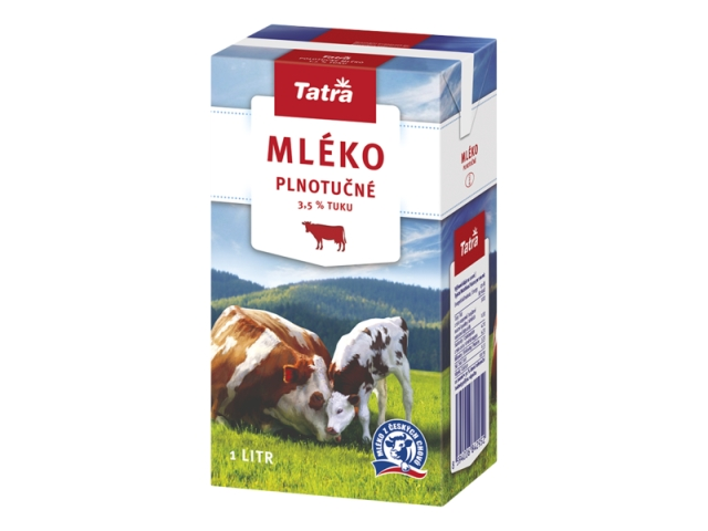 Tatra Trvanlivé mléko plnotučné 3,5% 1l