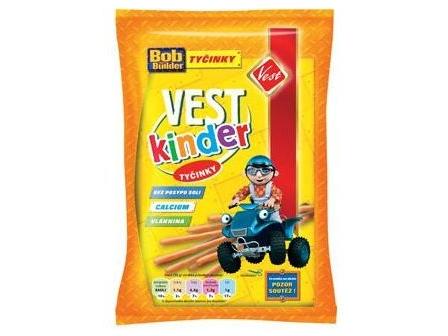 Vest Kinder tyčinky bez posypu soli 50g