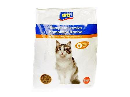 ARO Kompletní krmivo drůbeží granule pro kočky 2kg
