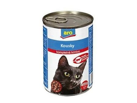 ARO Drůbeží kousky pro kočky 415g