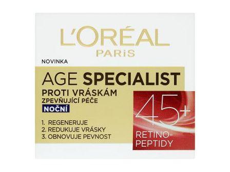 L´Oréal Age Specialist 45+ Zpevňující noční péče proti vráskám 50ml
