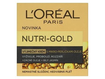 L´Oréal Nutri-Gold výjimečný krém s mikroperličkami oleje 50ml