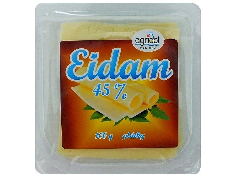 Agricol Eidam 45% plátky 100g