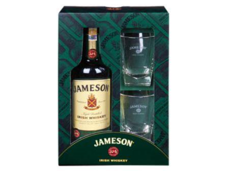 Jameson irská whiskey 40% 700ml + 2 skleničky