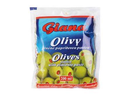 Giana Olivy zelené s paprikou 195g