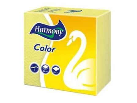 Harmony Color Ubrousky 1-vrstvé 50 ks