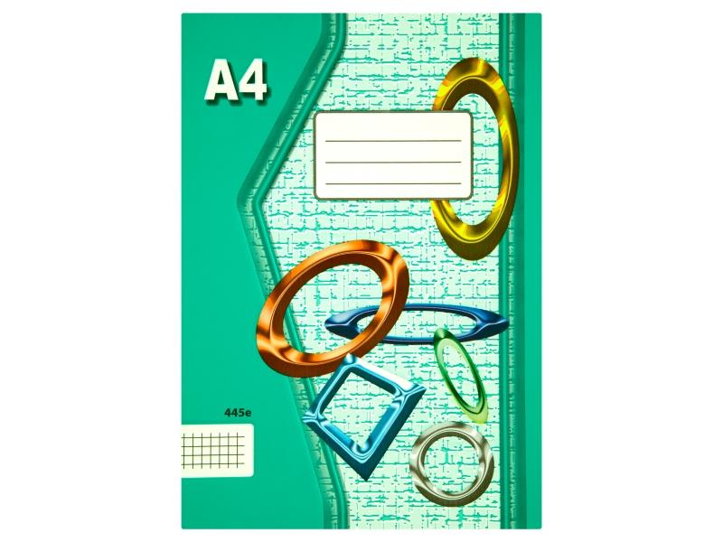 Sešit 445e A4 40 listů čtverečkovaný 1ks