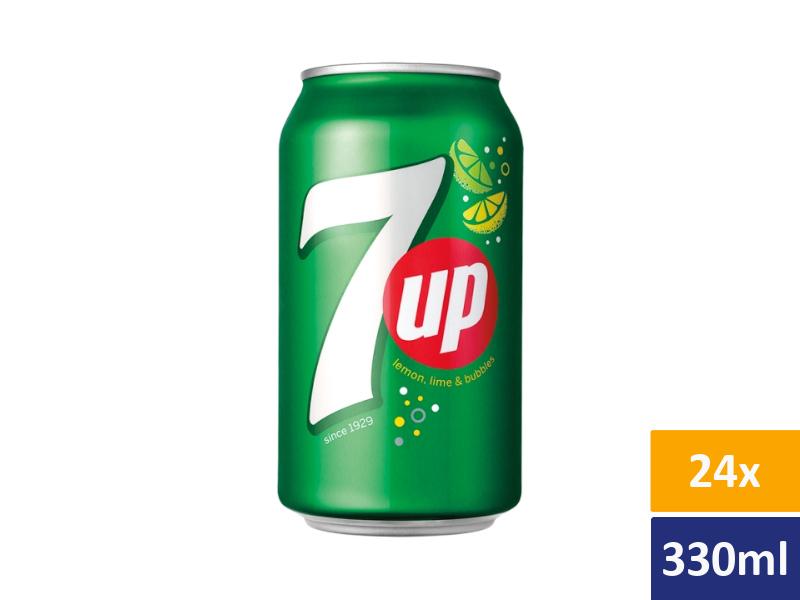 7UP Limonáda 24x 330ml, plech