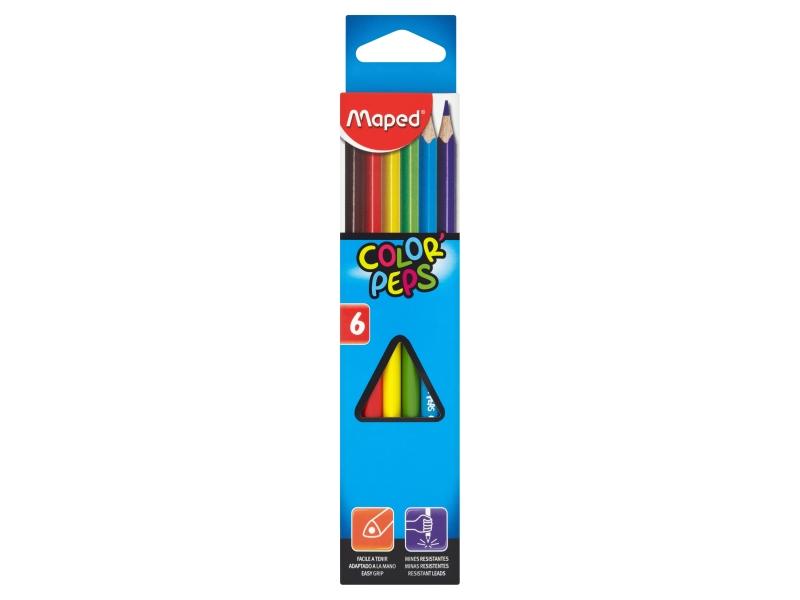 Pastelky trojboké Maped Color Peps 6 barev