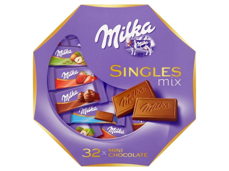 Milka Singles čokolády mix 138g