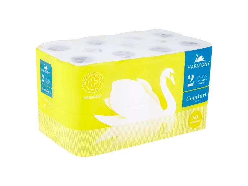 Harmony Comfort White Toaletní papír 2 vrstvy, 16 ks