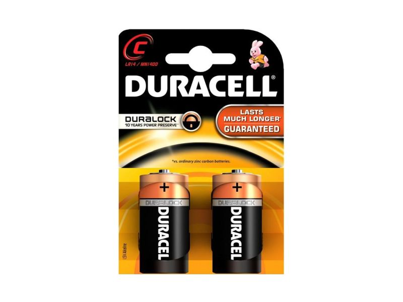 Baterie alkalická Duracell Basic C, LR14/MN1400, 2ks