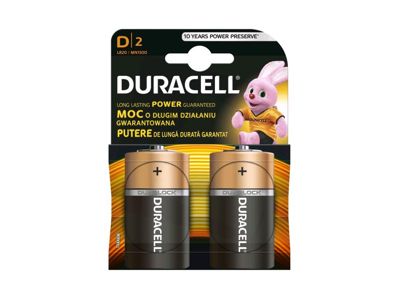 Baterie alkalická Duracell Basic D, LR20/MN1300, 2ks