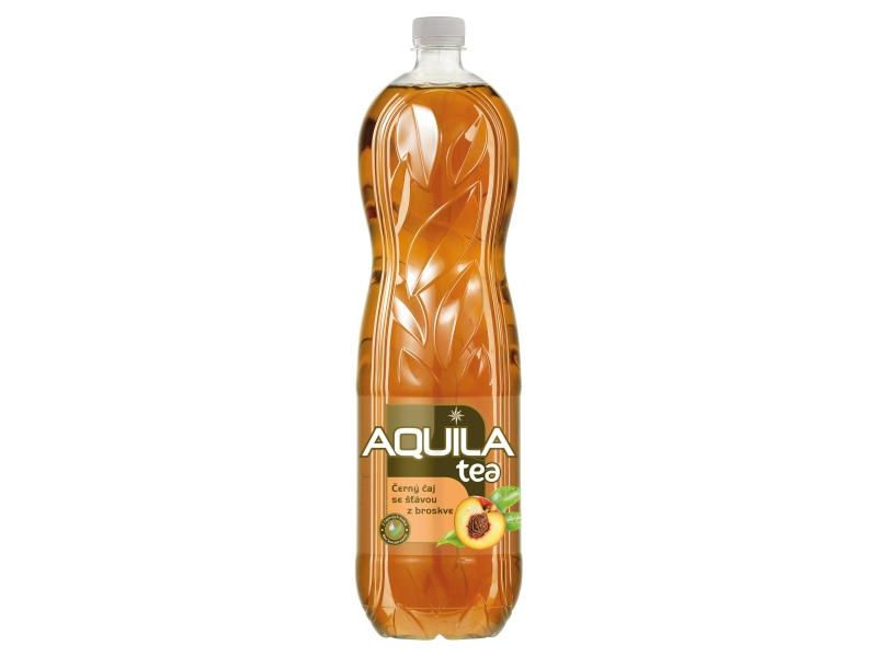 Aquila Tea Černý čaj se šťávou z broskve 1,5l