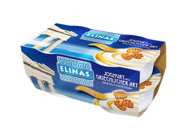 Elinas Jogurt řeckého typu med, 4x150g