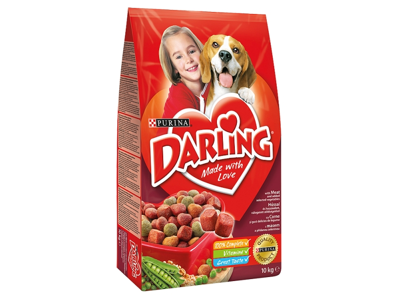 Purina Darling Granule s masem a zeleninou 10kg