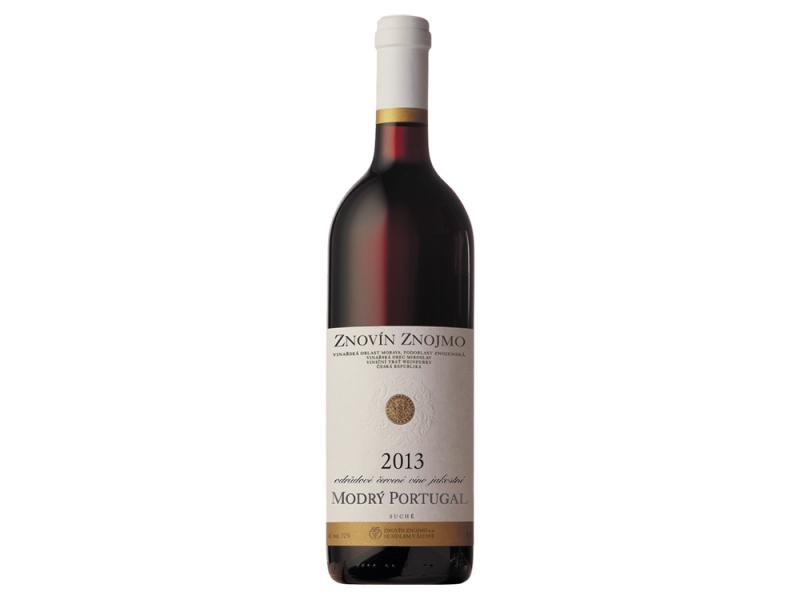 Znovín Znojmo Modrý Portugal odrůdové jakostní červené suché víno 0,75l