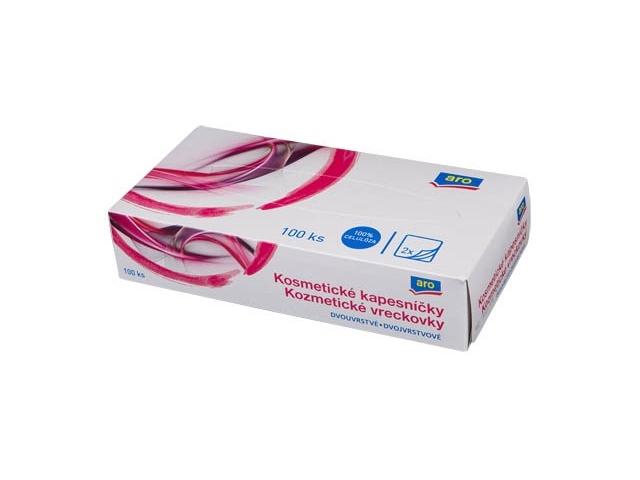 ARO Kosmetické kapesníčky 2-vrstvé, box 100ks