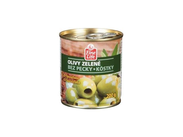 Fine Life Olivy zelené bez pecky 200g