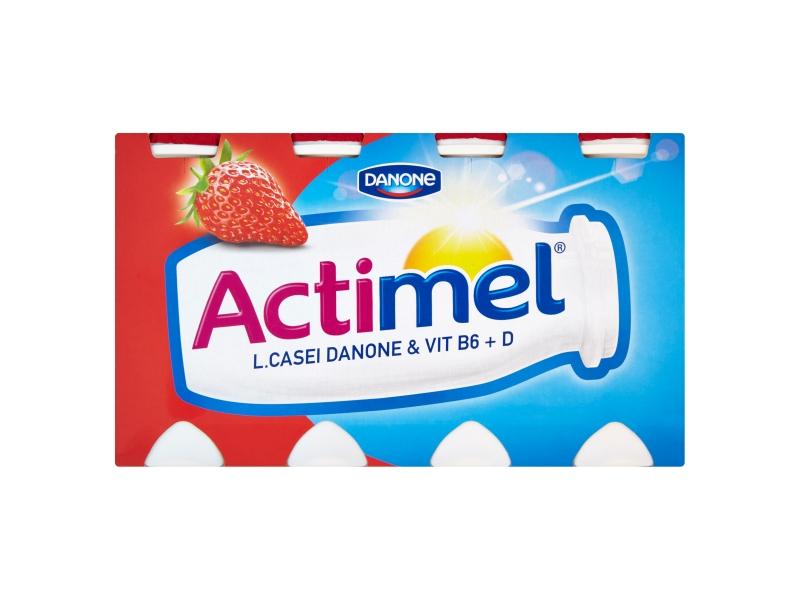 Danone Actimel Jogurtové mléko jahodové 8x100g