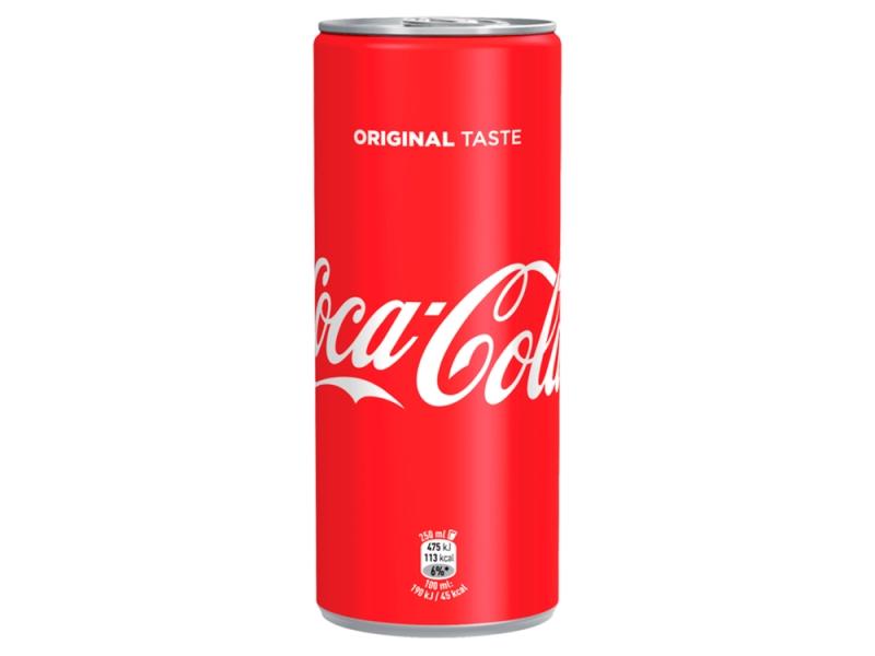 Coca Cola 250ml, plech