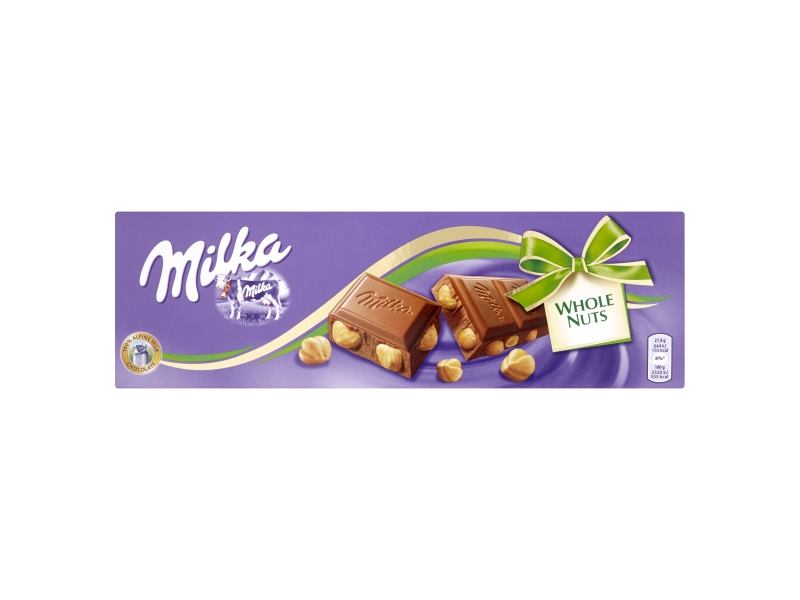 Milka Mléčná čokoláda s celými oříšky 250g