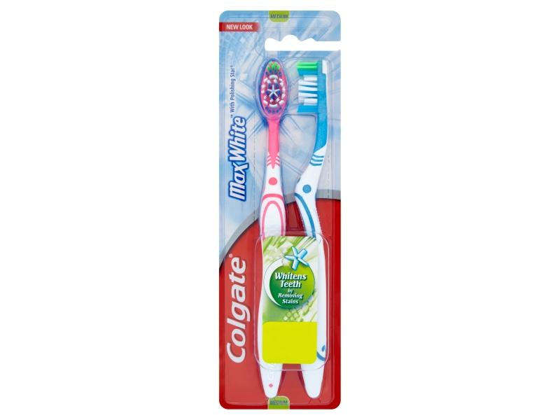 Colgate Max White Zubní kartáček střední 2 ks