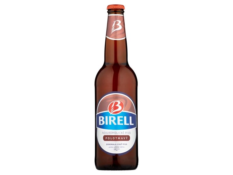 Birell Polotmavý nealkoholické pivo 500ml, sklo