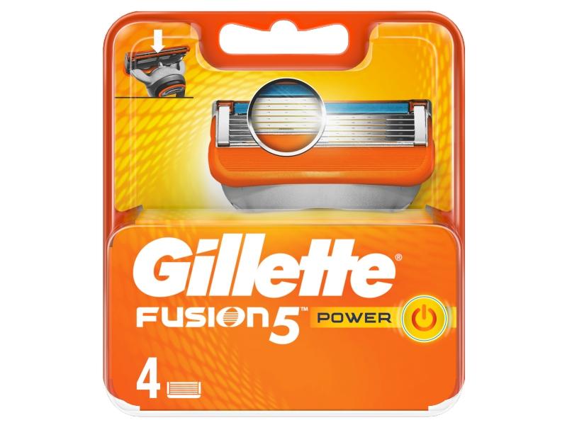 Gillette Fusion5 Power Náhradní Holicí Hlavice Pro Muže 4ks