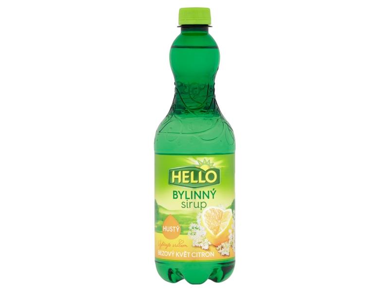 Hello Bylinný sirup bezový květ citron 0,7l