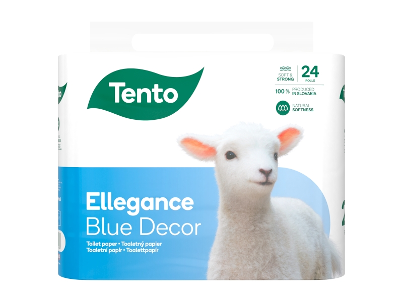 Tento Ellegance Blue Decor toaletní papír 3 vrstvy 24 rolí