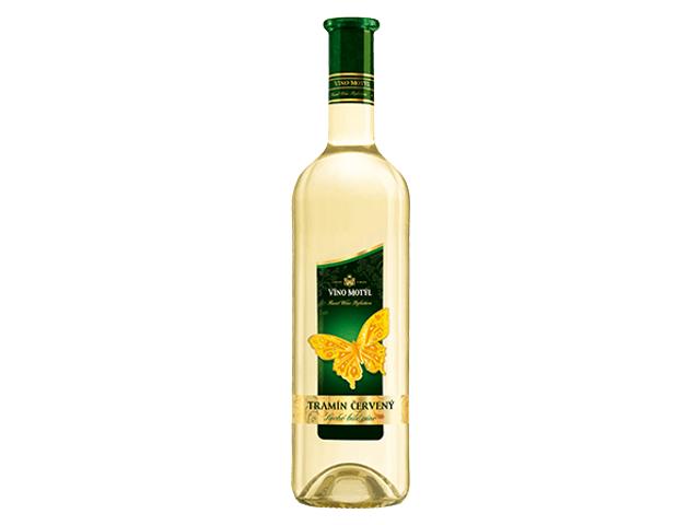Víno Motýl Tramín červený suché bílé víno 0,75l