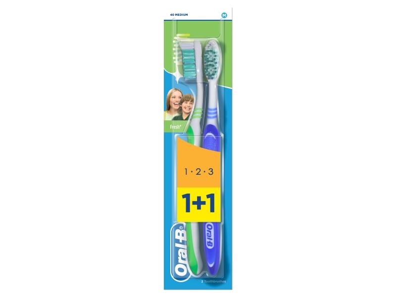 Oral-B 123 Natural Fresh zubní kartáček 2ks