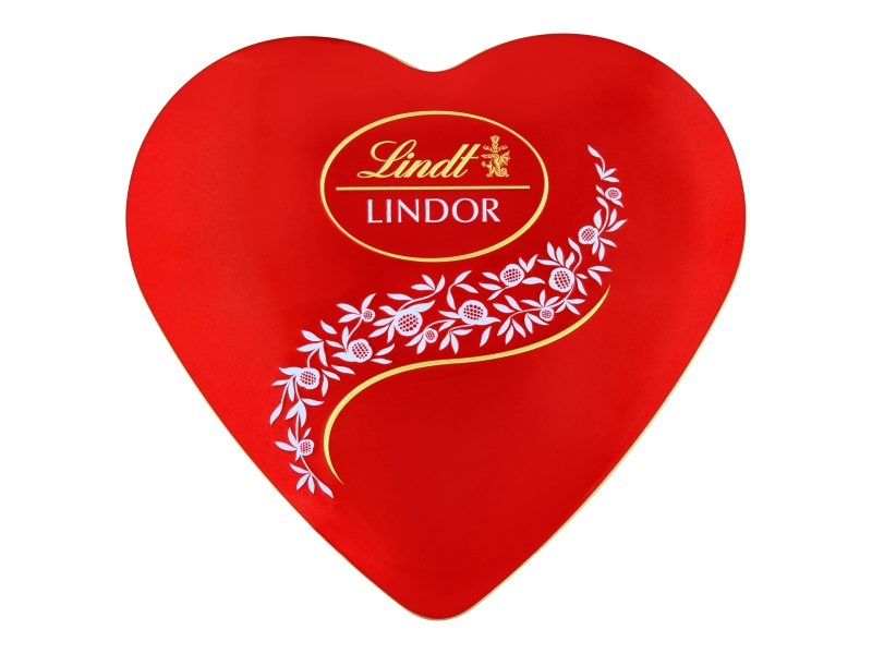 Lindt Lindor mléčné pralinky srdce 212g,plech