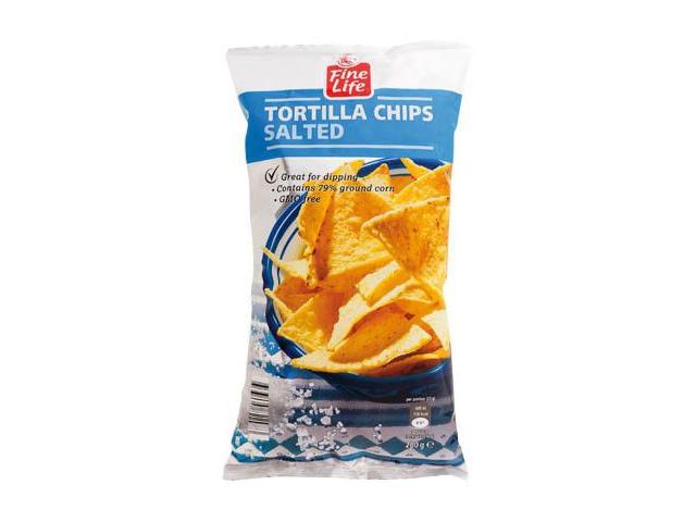 Fine Life Tortilla Chips Solené 200g