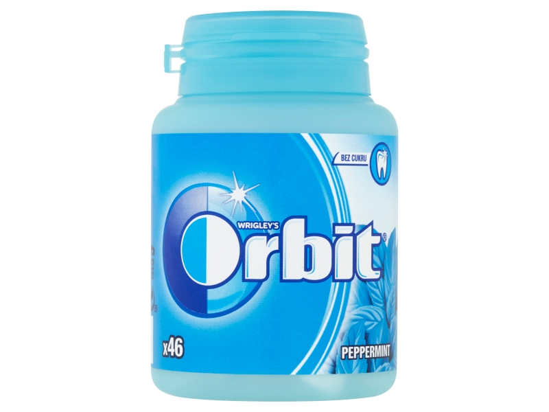 Orbit Peppermint žvýkačky (46 ks) 64g, dóza