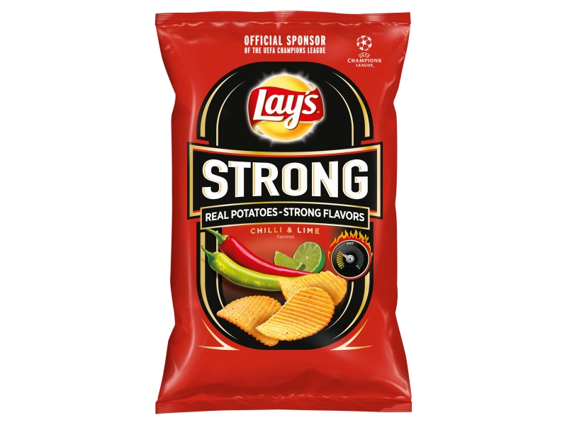 Lay´s Chips Strong s příchutí chilli a limetky 130g