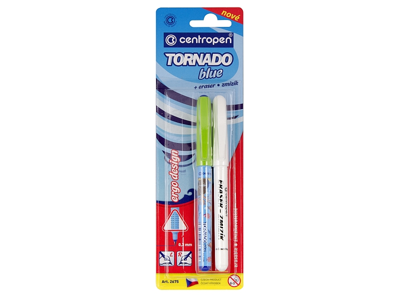 Centropen Roller Tornado blue + zmizík 1ks