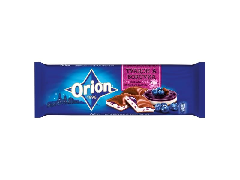 Orion Čokoláda mléčná s tvarohem a borůvkami 240g