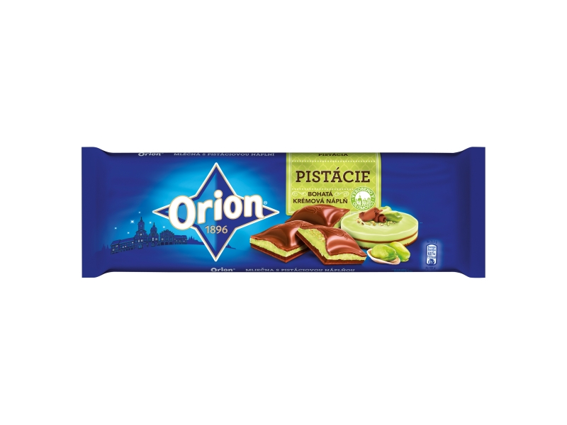 Orion Čokoláda mléčná s pistáciovou náplní 240g