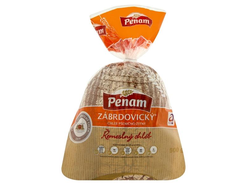 Penam Chléb zábrdovický balený krájený 500g
