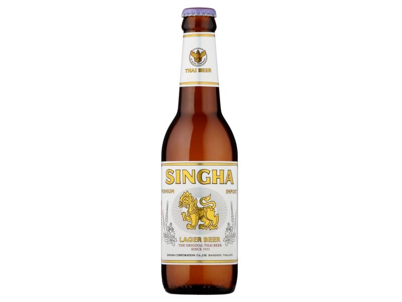 Singha Thajské světlé pivo 330ml, sklo