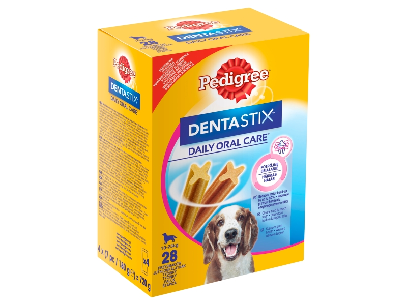Pedigree DentaStix 10-25 kg, 28 tyčinek 4x180g