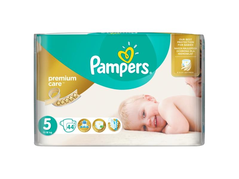 Pampers Premium Care Velikost 5 (Junior) 11 – 18 kg, 44 Kusů