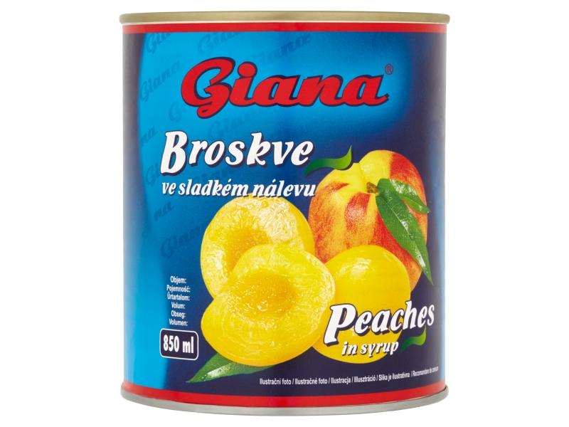 Giana Broskve ve sladkém nálevu 820g