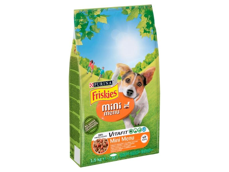 FRISKIES Mini Menu s kuřecím a zeleninou pro psy 1,5kg