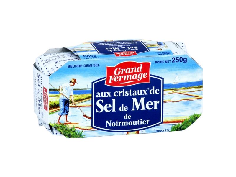 Grand Fermage Máslo s krystaly mořské soli 250g