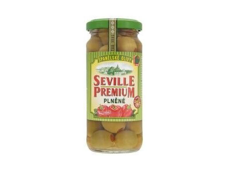 Seville Premium Zelené olivy s paprikou 235g