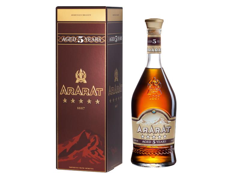 Ararat 5yo arménská brandy 40% 700ml