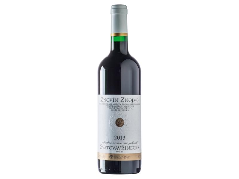 Znovín Znojmo Svatovavřinecké odrůdové jakostní červené suché víno 0,75l